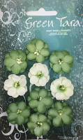 *NEW* Pack 10 Cherry Blossoms, Green Tones 28mm