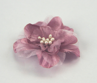 Heirloom 4cm Silk and Organza 12pcs Dusky Pink