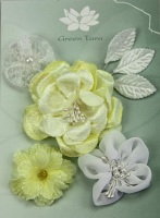 "*NEW* Fabric Flowers ""Velvet Yellow"""