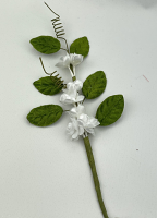 18 cm Vine -  Green with White blossoms