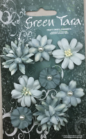 8 Rustic Flowers Sky Blue