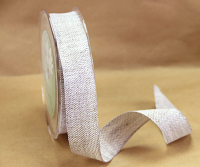 25mm Natural Linen Ribbon, 15 Metres