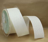38mm Linen Look Ribbon, 20 Metres Ivory