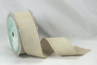 38mm Linen Look Ribbon, 20 Metres Wheat